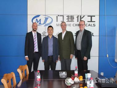 El gerente general Liu Quanjun se reunió con los invitados del Akzo Nobel